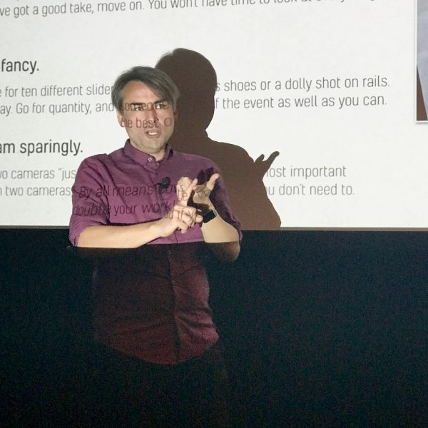 Presenting at the FCP X Creative Summit, October 2017